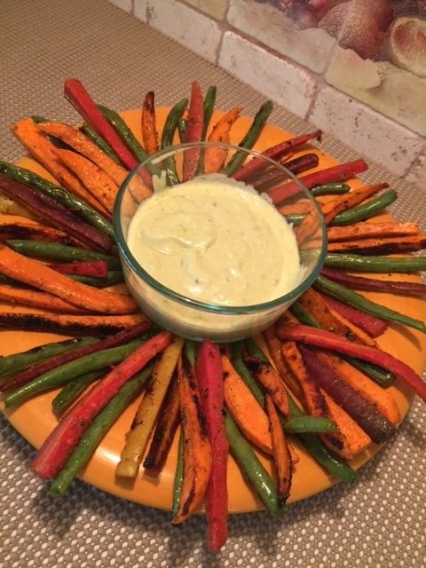 BBQ Garlic Lemon Vegetable Platter