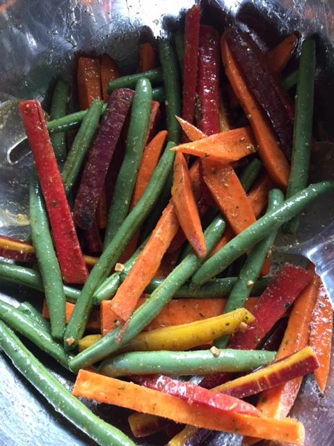 Seasoned Vegetables for BBQ Garlic Lemon Vegetable Platter