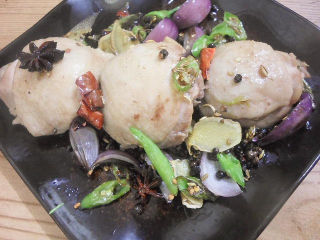 Asian Spicy Poached Chicken