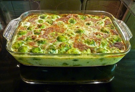 Creamy Brussels Sprouts Casserole