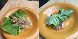 plated - Coconut Chicken Lettuce Wraps