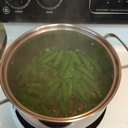 cooking sugar snap peas