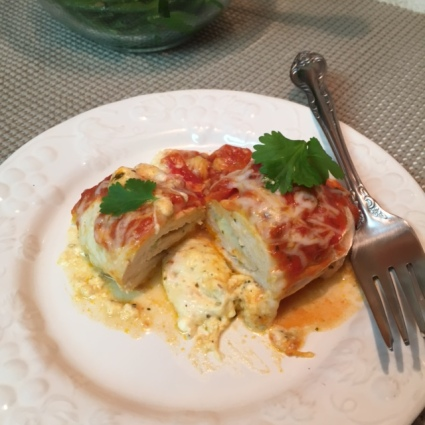 Italian Five Cheese Chicken Roll Ups