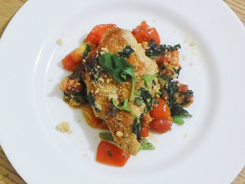 plated- Tomato Basil Chicken