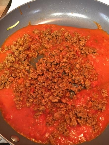 sauce and chorizo