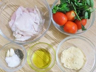 Tomato Basil Chicken - ingredients