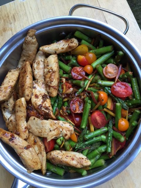 Balsamic-Honey Glazed Chicken and Asparagus