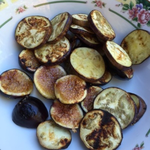 bbq grilled eggplant and figs