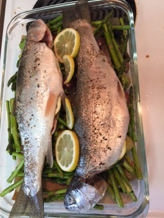 ready to roast - Roasted Trout with Baby Potatoes and Asparagus