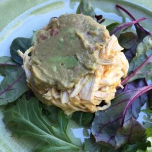 close up of Mango Guacamole Chicken Salad