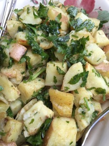 Roasted Yams with Cilantro and Lime Juice  - close up