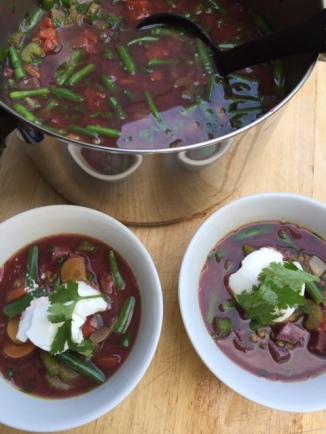 Lentils and Purple Sweet Potato Stew
