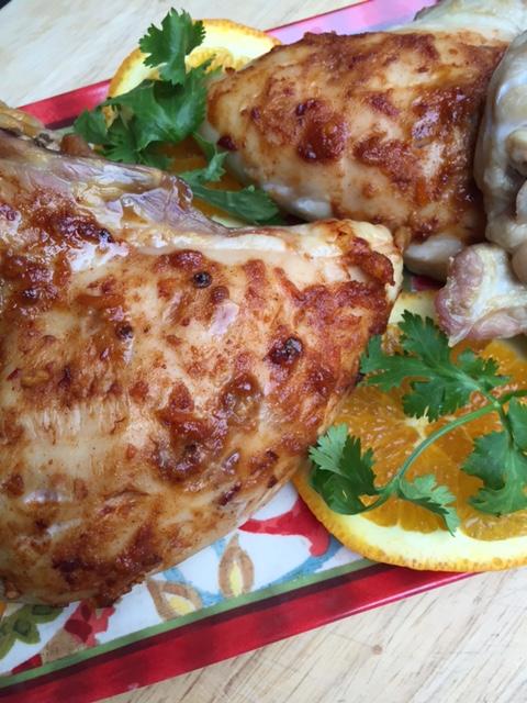 Roasted Chicken With Chipotle Cinnamon Orange Glaze