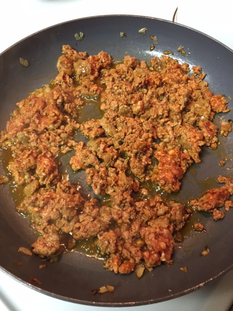 cooking Mexican chorizo