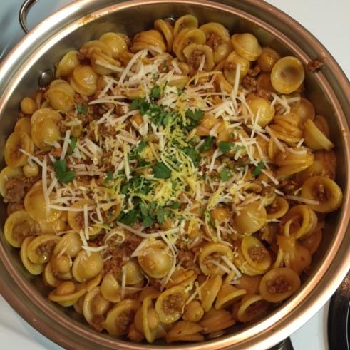 Orecchiette with Chorizo and Chickpeas