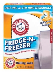 Baking soda used to keep fridge order free