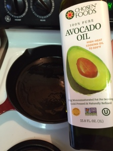 cast iron cooking with avocado oil