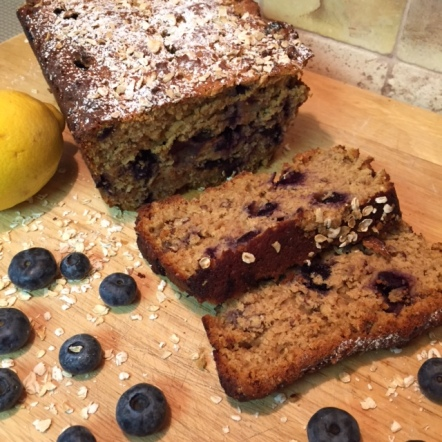 Gluten Free  Blueberry Lemon Bread