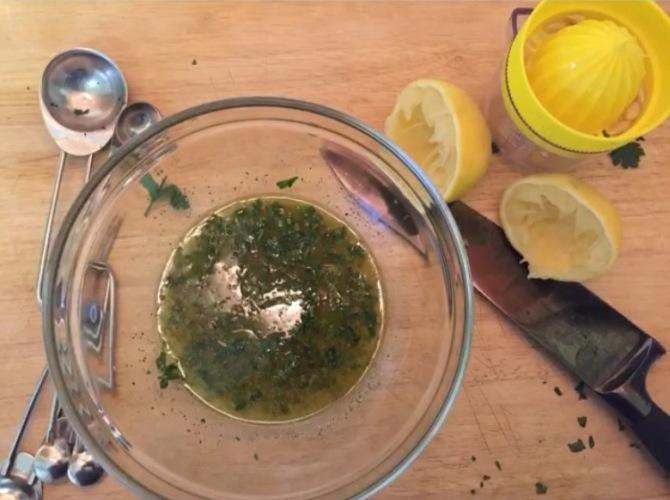 lemon and olive oil dressing