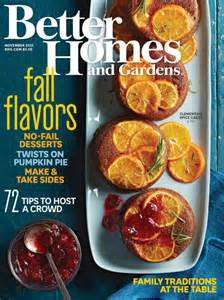 Better Homes and Garden Novemeber 2015 issue