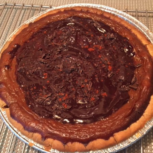 Gluten Free Mexican Chocolate Pumpkin Pie