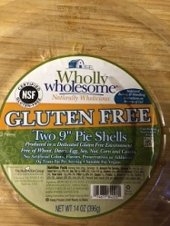gluten free pie shell packaging