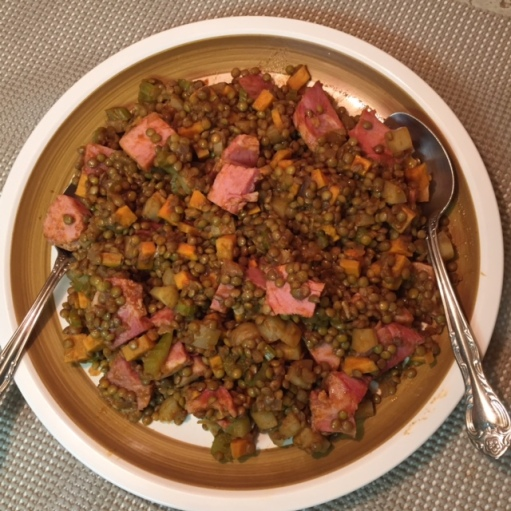 Prosciutto Cotto and Lentils