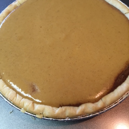second layer of Gluten Free Mexican Chocolate Pumpkin Pie