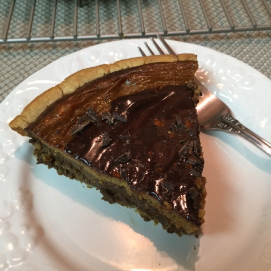 Slice Of  Gluten Free Mexican Chocolate Pumpkin Pie
