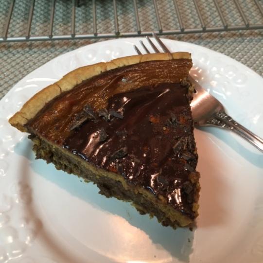 Slice Of  Gluten Free Mexican Chocolate Pumpkin Pie