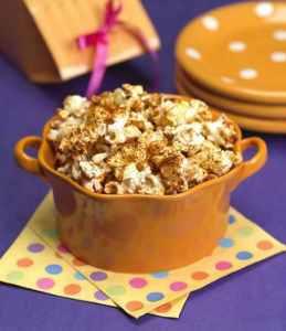 a bowl of Tex Mex Mix Popcorn