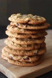 Crisp and Thin Chocolate Chip Cookies