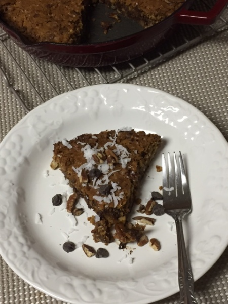 Gluten Free Iron Skillet Pecan Coconut Cake