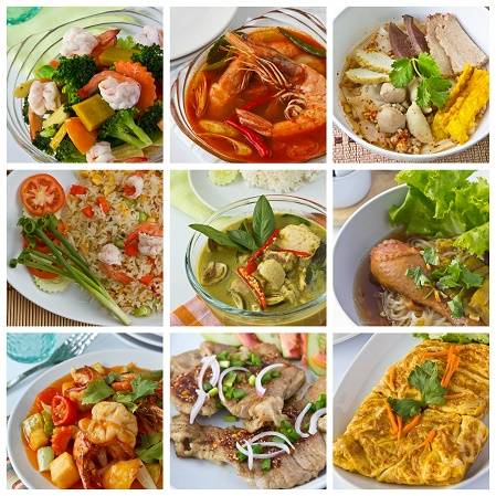 Collage of thai food - How To Prepare Thai Food With These Key Ingredients