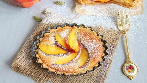 Peach and Cardamom Tart - Food Network uk