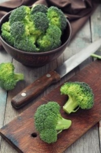 preparing broccoli to eat