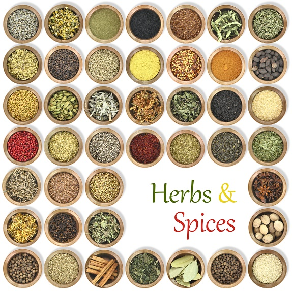Large collection of metal bowls full of herbs and spices -How To Spice Things Up When Cooking