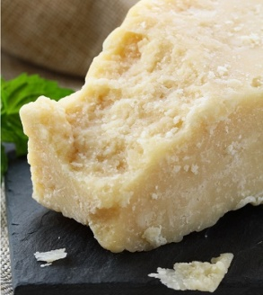 Parmigiano Reggiano cheese on a table top
