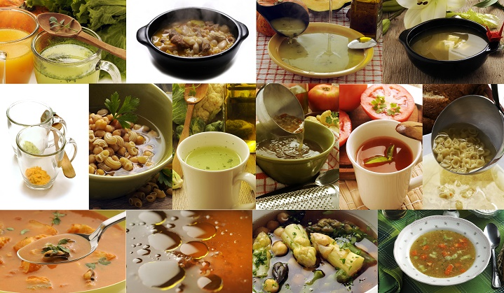 collage of broths and stocks - The Difference Between Stock and Broth