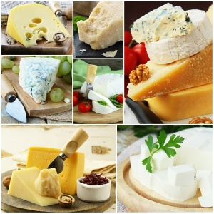 collage of various types of cheese