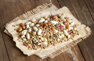 Mixed Legumes on paper and burlap - How To Cook Dried Beans