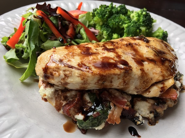 Smoked Bacon And Ricotta Cheese Stuffed Chicken Breasts
