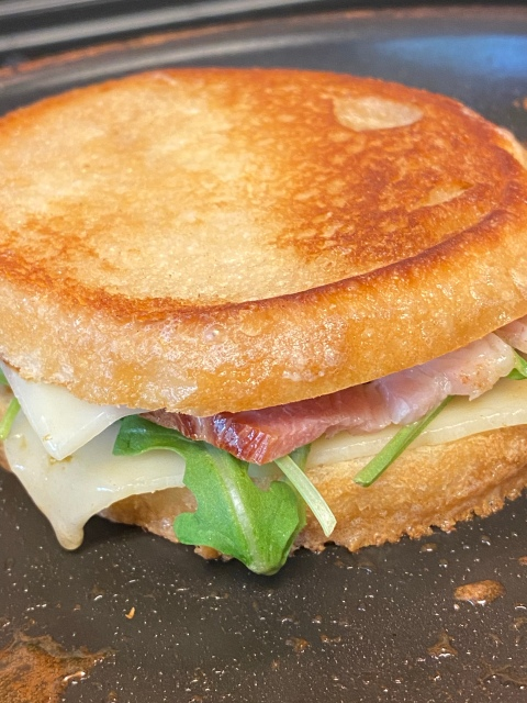 A Gourmet Grilled Cheese Sandwich