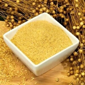 Ground golden flax seed