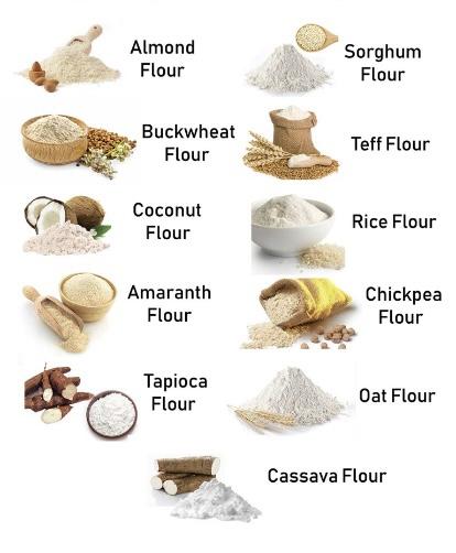 Gluten-free flours