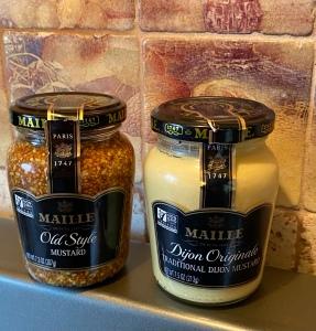 French Dijon and grainy mustard