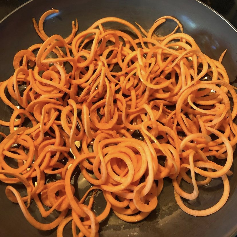 Sweet potato spirals