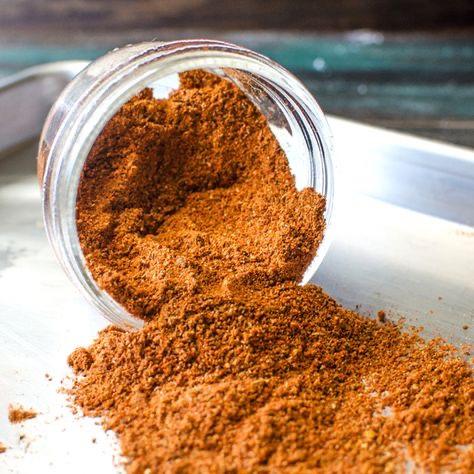 Jar  on plate with smoked Cajun  spice