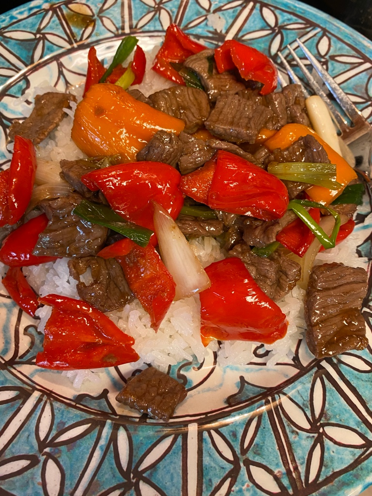 Beef Teriyaki with Peppers and Green Onions